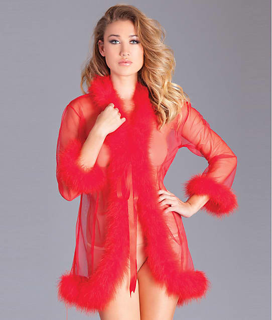 Be Wicked: Marabou Robe
