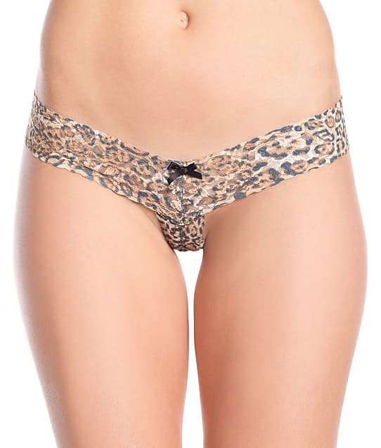 Be Wicked: Crotchless Leopard Lace Thong