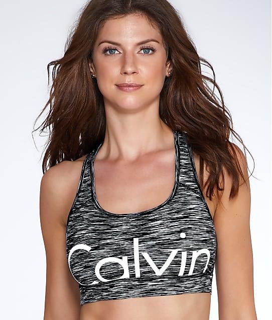 Calvin Klein: Cut-Off Logo Medium Impact Sports Bra