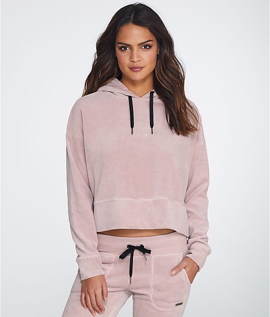 Calvin Klein: Velour Cropped Hoodie