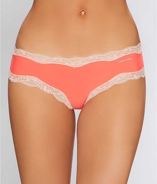 Calvin Klein: Microfiber Cheeky Lace Hipster