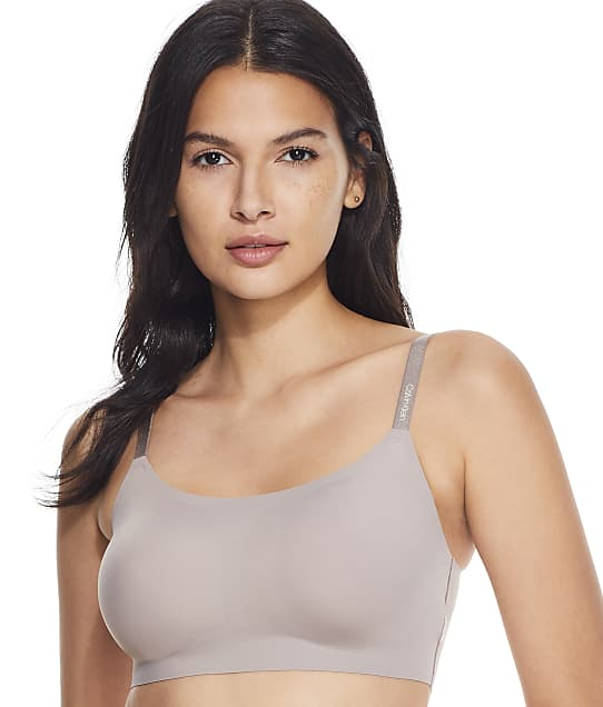 Calvin Klein Invisibles Comfort Bralette in Mink(Front Views) QF4783