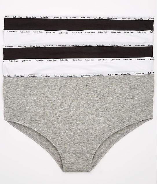 Calvin Klein: Plus Size Signature Cotton Hipster 5-Pack