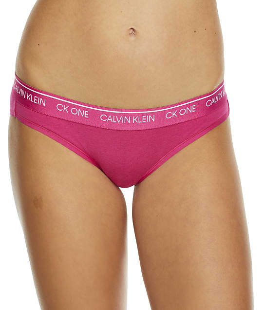 Calvin Klein CK One Cotton Bikini in Party Pink QF5735