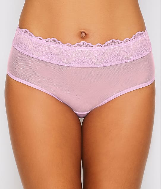 Camio Mio Mesh and Lace Hipster in Lilac B20116