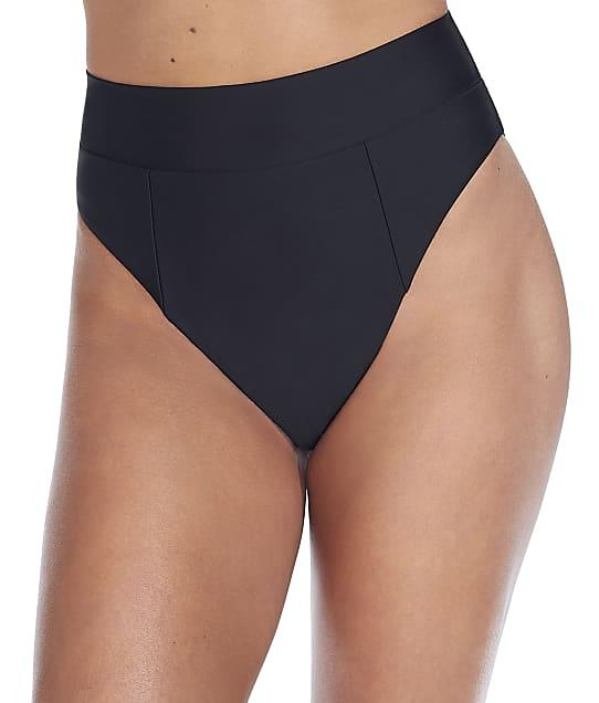Camio Mio Black High-Waist Bikini Bottom in Black S20207-BLK
