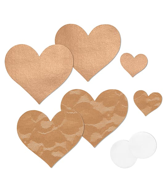 B-Six: Nippies Basic Heart Pasties 2-Pack