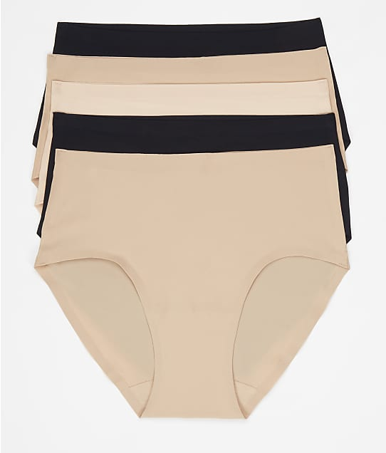 Chantelle Soft Stretch Hipster 5-Pack in Black / Nude / Blush 1005