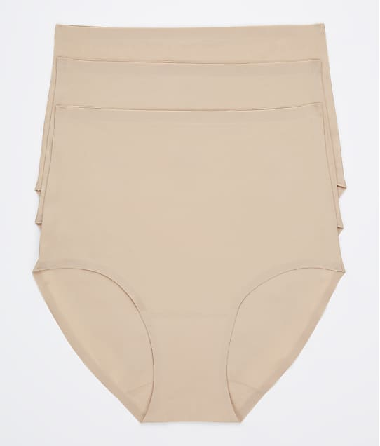 Chantelle Soft Stretch Full Brief 3-Pack in Ultra Nude 1007
