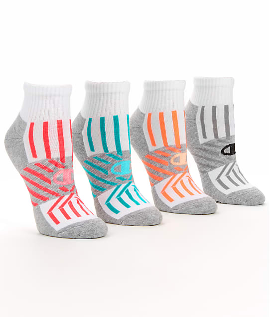 Champion: Trade Up Performance Ankle Socks 4-Pack