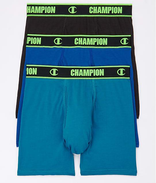 Champion: Cotton Performance Boxer Briefs 3-Pack