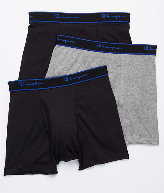 Champion: Cotton Performance Short Leg Boxer Brief 3-Pack