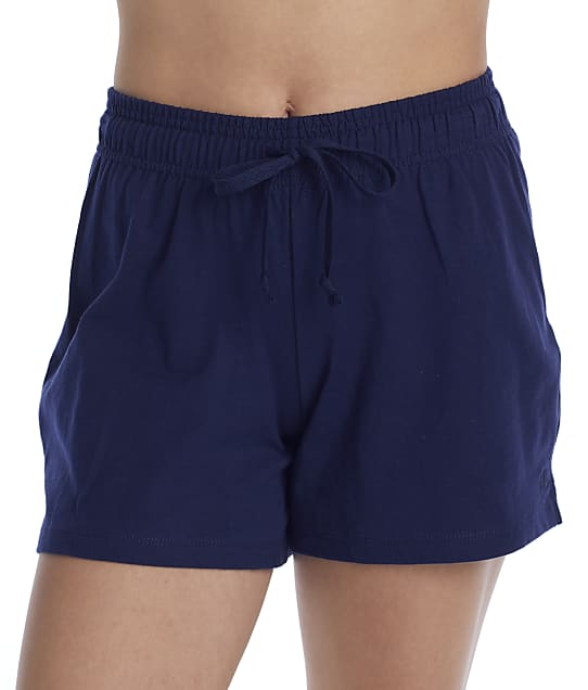 Champion Jersey Knit Shorts in Athletic Navy M7417