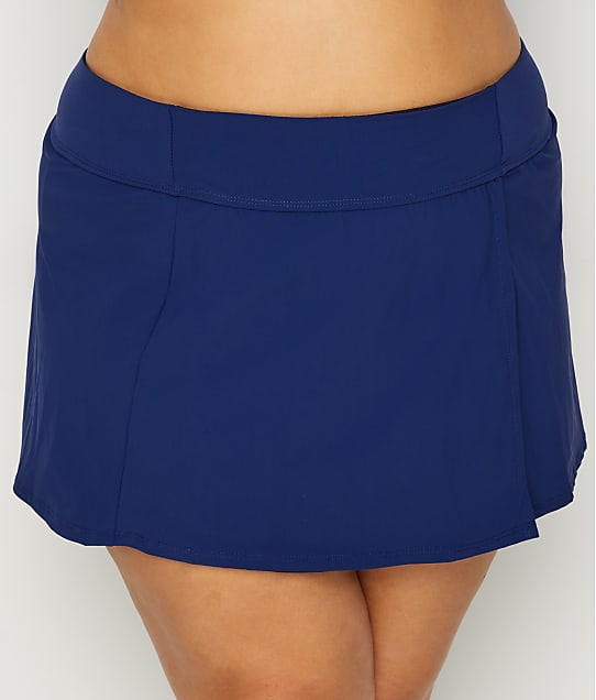 Christina: Plus Size Solid Skirted Bikini Bottom
