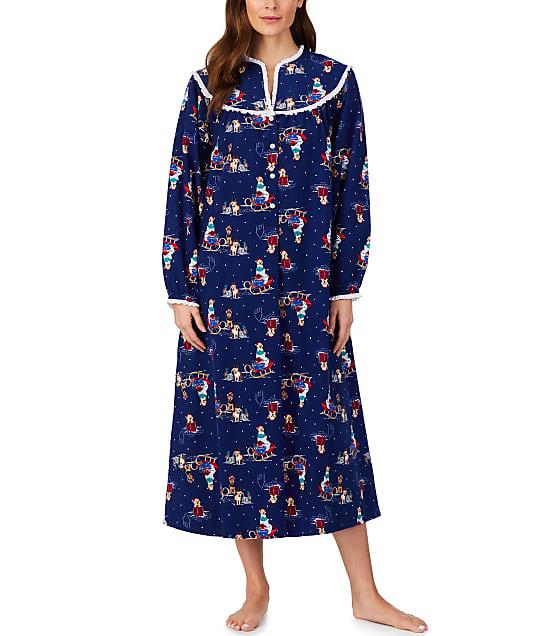 Lanz of Salzburg: Sleigh Puppies Flannel Nightgown
