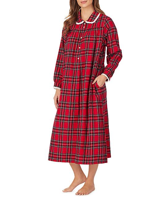 Lanz of Salzburg: Red Tartan Flannel Nightgown