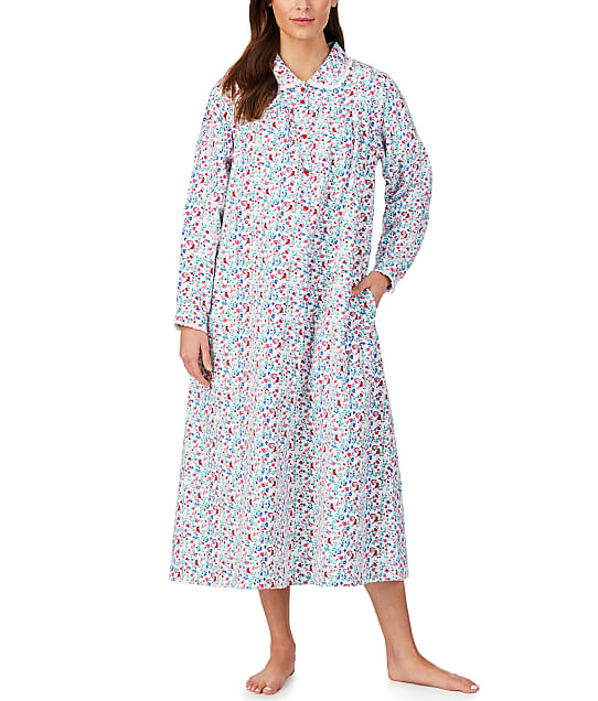Lanz of Salzburg Holiday Peterpan Woven Nightgown in White Holiday CL5616839-WH