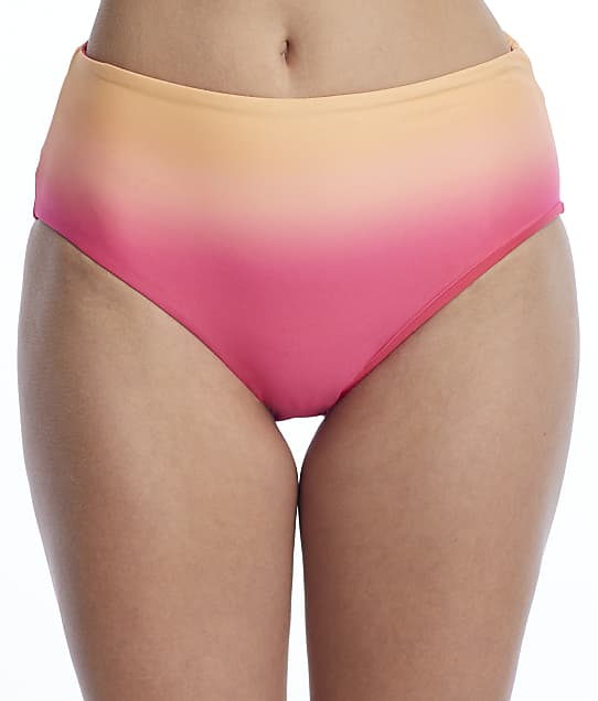 Coco Reef: Sunset Fade High-Waist Reversible Bikini Bottom