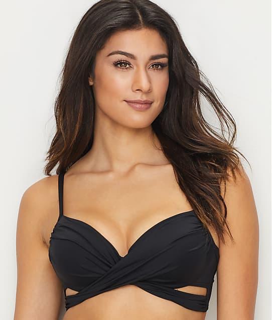 Coco Reef Classic Solids Wrap Underwire Bikini Top in Black U95147