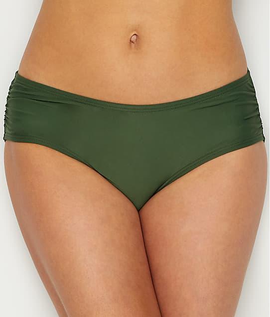 Coco Reef: Classic Solid Shirred Bikini Bottom