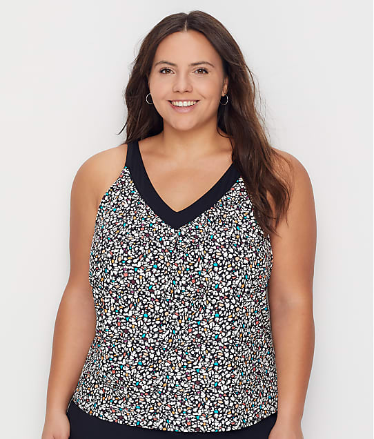 Coco Reef: Plus Size Terrazzo Core Underwire Tankini Top