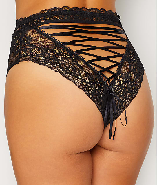 Contradiction: Suspense Lace-Up Brief