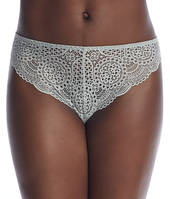 Birdsong Lace Thong in Sage A20077
