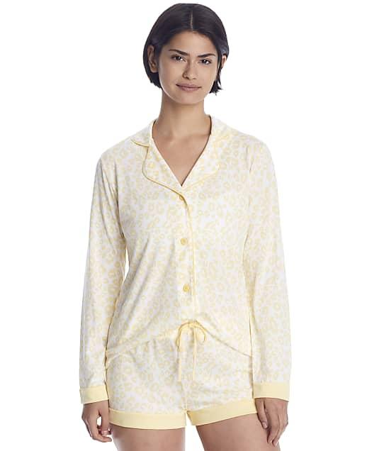 Cosabella Bella Printed Knit Top & Boxer Pajama Set in Animal Limone(Front Views) AMOBP9645