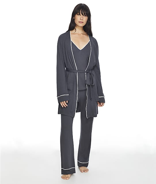 Cosabella Bella Curvy Knit Robe Set in Anthracite AMORE9862