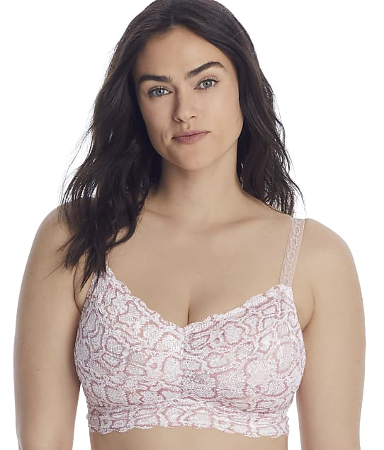 Cosabella Never Say Never Printed Sweetie Curvy Bralette in Mandorla Snake(Front Views) NEVEP1310