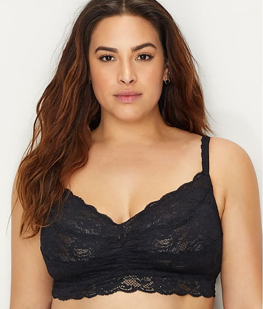 Cosabella Plus Size Never Say Never Sweetie Bralette in Black NEVER1301P