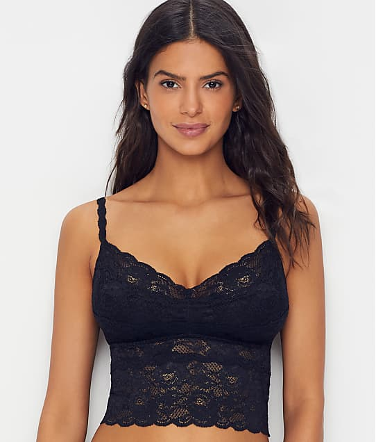 Cosabella Never Say Never Cropped Cami Bralette in Black(Front Views) NEVER1873