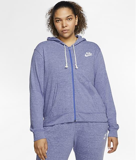 Nike Plus Size Full-Zip Hoodie in Sapphire / Sail CT0635
