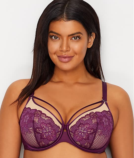 Curvy Couture: Tulip Lace Convertible Push-Up Cage Bra