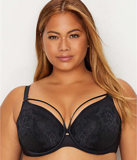 cc698b4fbf Curvy Couture Tulip Lace Convertible Push-Up Cage Bra