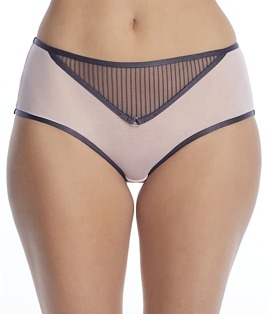 Curvy Kate Victory Pin-Up Boyshort in Grey Pink(Front Views) CK020201