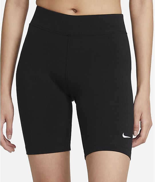 Nike Mid-Rise Bike Shorts in Black(Front Views) CZ8526