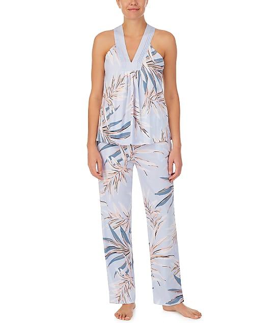 Donna Karan Sleepwear Cotton Luxe Pajama Set in Azora Palm(Front Views, Azora Palms) D3123333