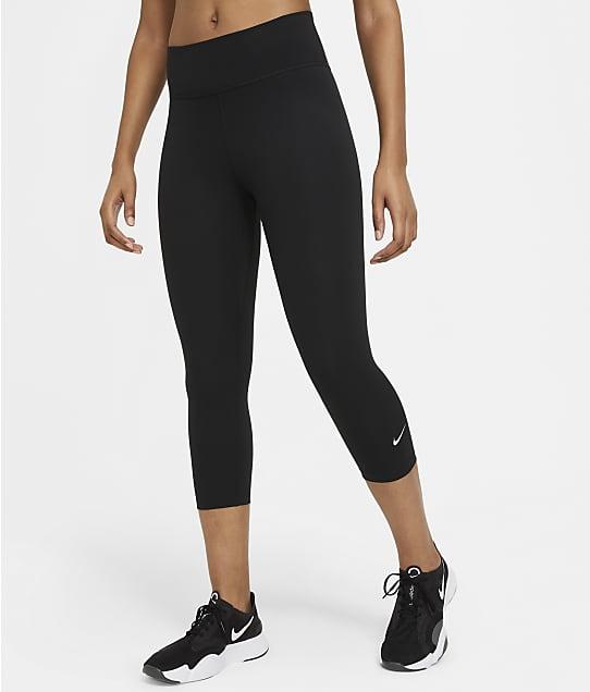 Nike Mid-Rise Capri Leggings in Black / White(Full Sets) DD0245