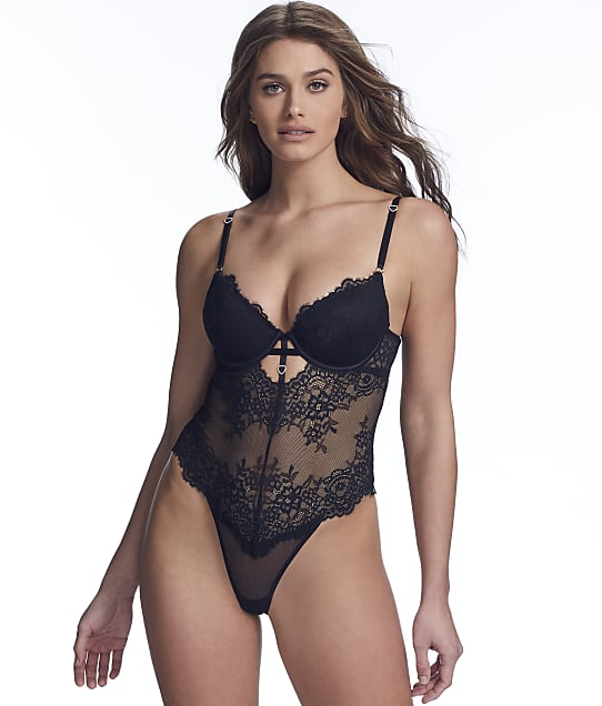 Inner Secrets: Underwire Lace Push-Up Teddy