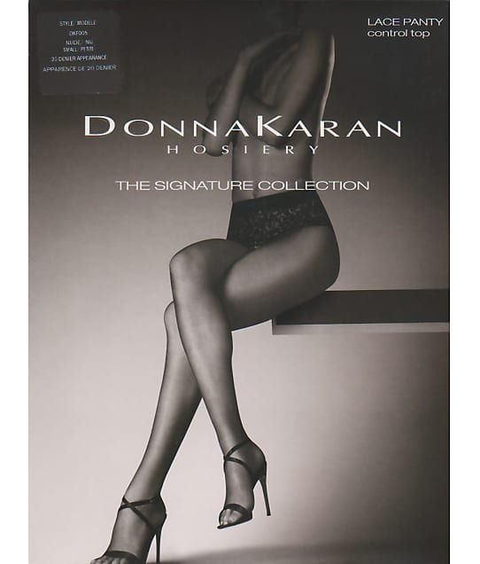 Donna Karan Hosiery: Signature Sheer Lace Control Top Pantyhose