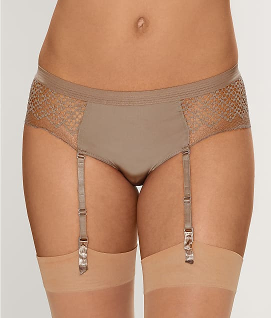 DKNY: Sheer Lace Garter Boyshort