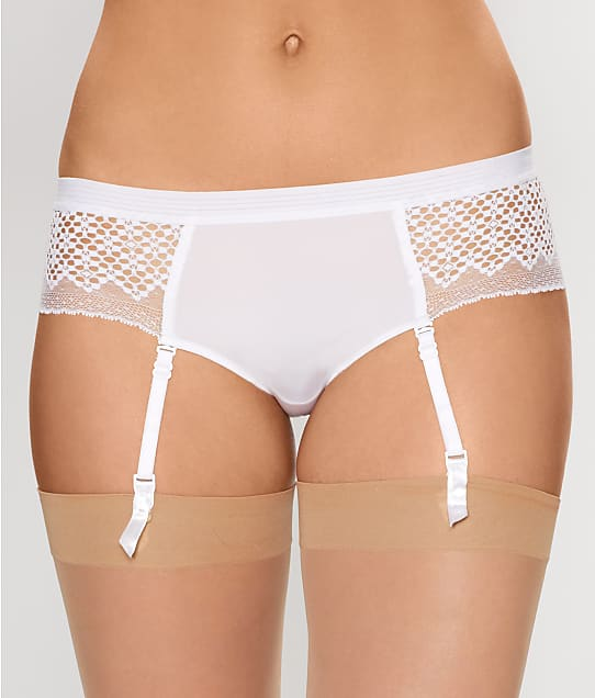 DKNY: Sheer Lace Garter Boyshort