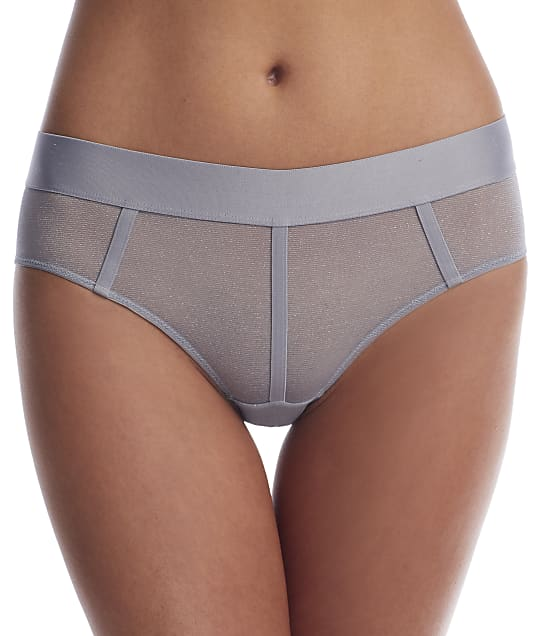 DKNY Sheers Hipster in Aluminum Lurex(Front Views) DK4942