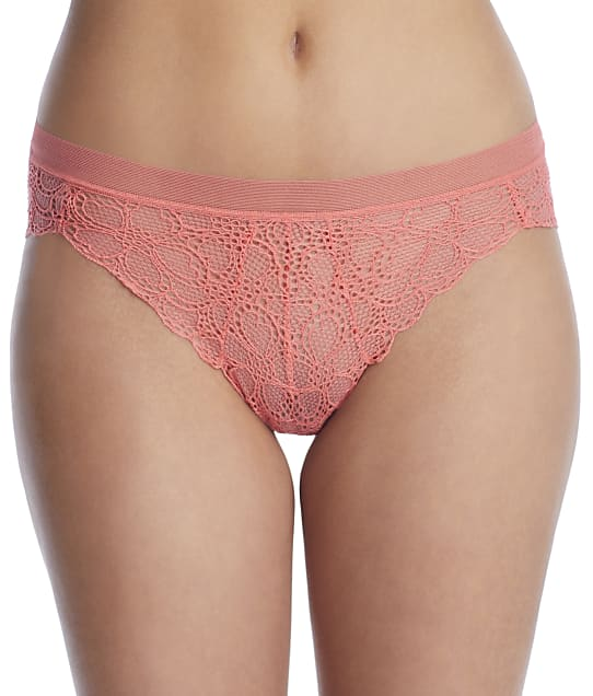 DKNY Superior Lace Brazilian in Sugar Coral(Front Views) DK4944