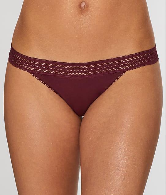 DKNY: Classic Cotton Lace Trim Thong