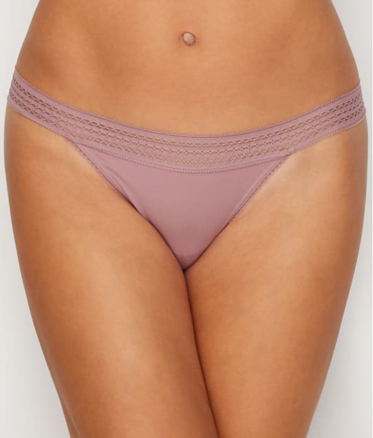 DKNY: Classic Cotton Lace Trim Thong