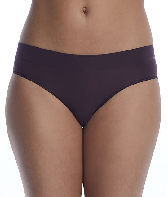 DKNY Seamless Lightwear Bikini in Black Plum(Front Views) DK5017