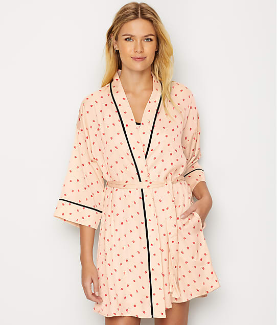 582778e6bc2 DKNY Read My Lips Satin Kimono Robe