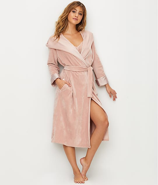 DKNY: Elevated Leisure Velour Hooded Robe
